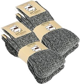 Juego de 2 pares de calcetines norvégiennes (– Calcetines de lana), tejer de