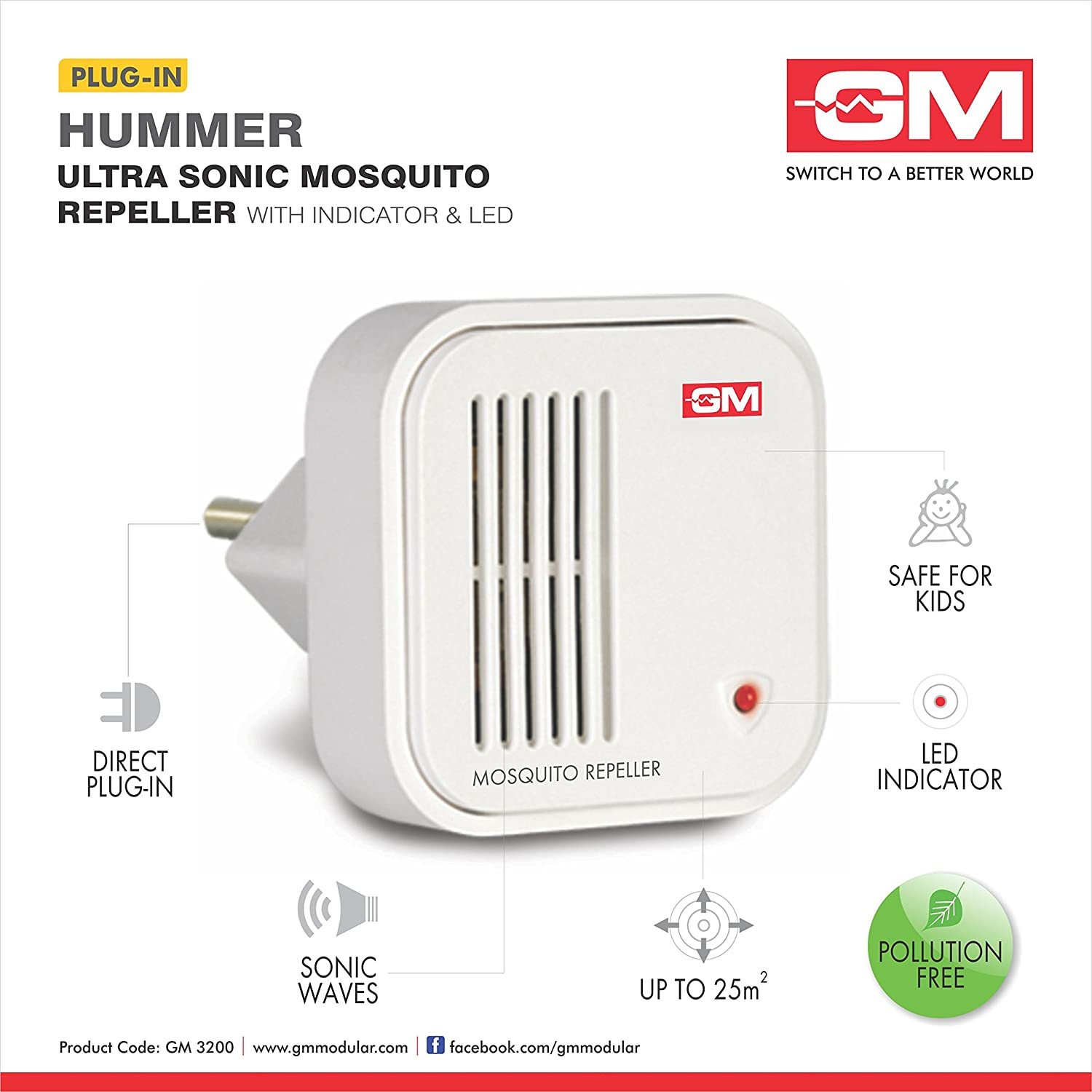 gm 3200 mosquito repeller electronic with led amazon in garden rh amazon in electronic mosquito repellent devices electronic mosquito repellent bracelet