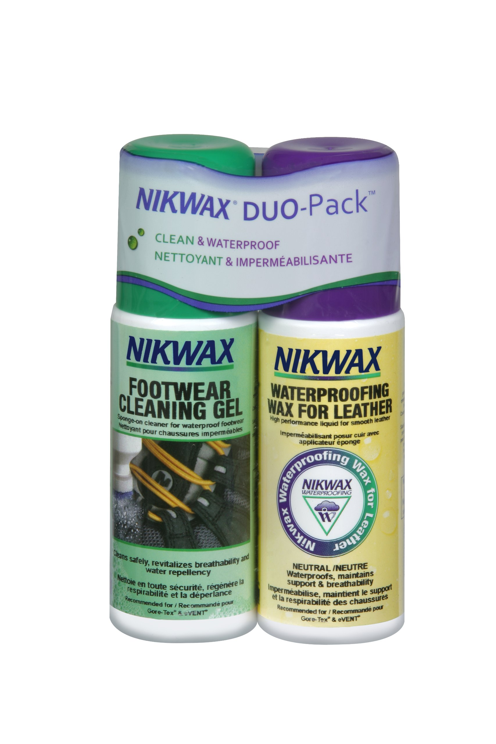 Nikwax Smooth Leather Footwear Clean/Waterproof Duo Pack