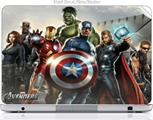 "Laptop VINYL DECAL Sticker Skin Print Comic Book Hero fits HP 15.6"" (Model 15-d038dx) Laptop"