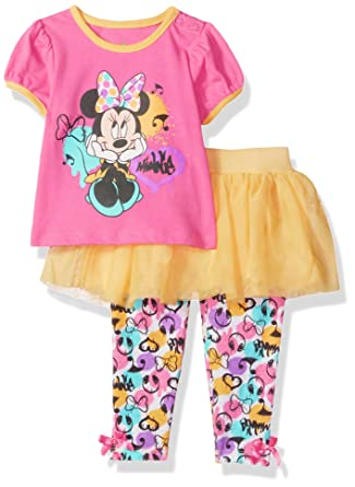 ed5b88cb82e0 Amazon.com: Disney Baby Girls' Minnie Mouse 2 Pieced Short Sleeve Skegging  Set, Fuchsia Bouquet, 24 Months: Clothing