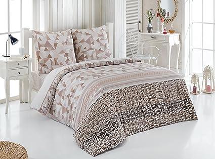 Buymax Bettwäsche Set Bettbezug Zwei Kopfkissenbezüge