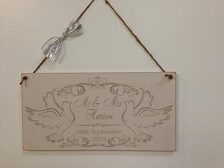 Palomas de la boda personaliseitonline Mr y Mrs - cartel de ...
