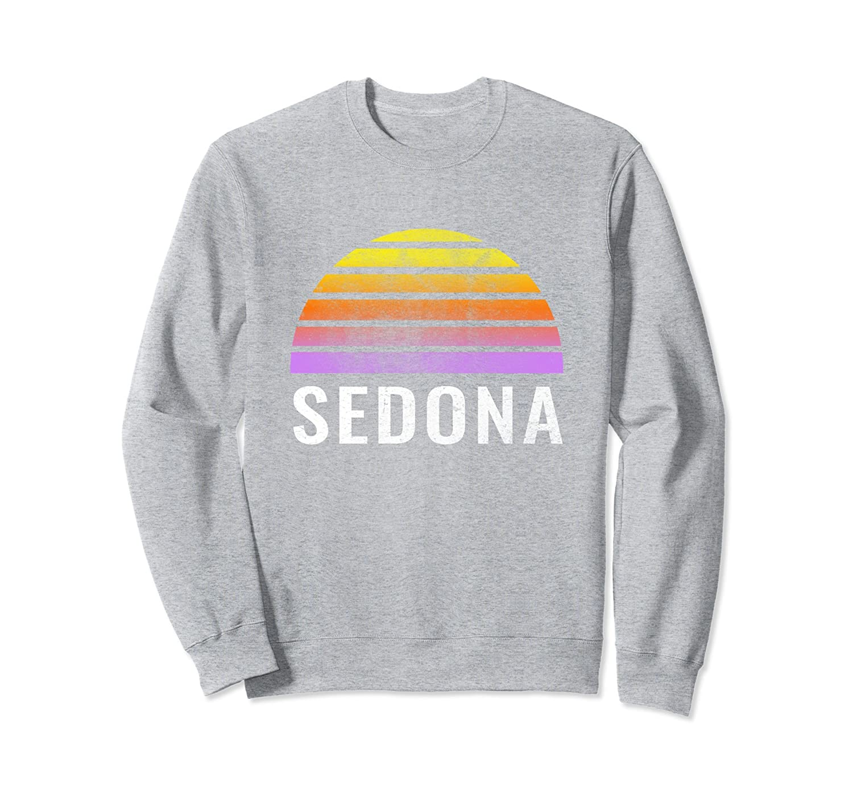 Retro Vintage Sedona Throwback Sunset Sweatshirt-TH