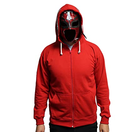 Heroes Of Lucha Libre Rey Mysterio Red Hoodie with Integrted Mask (Size M)