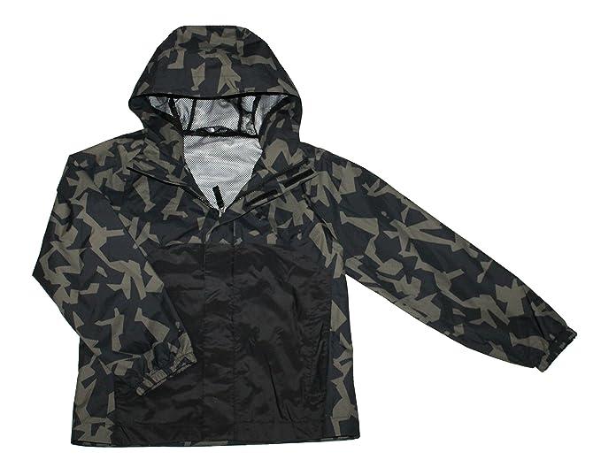 0b1edbc83df1c The North Face James Shell Youth Boys Rain Hooded Jacket TOP Black CAMO  Print (S