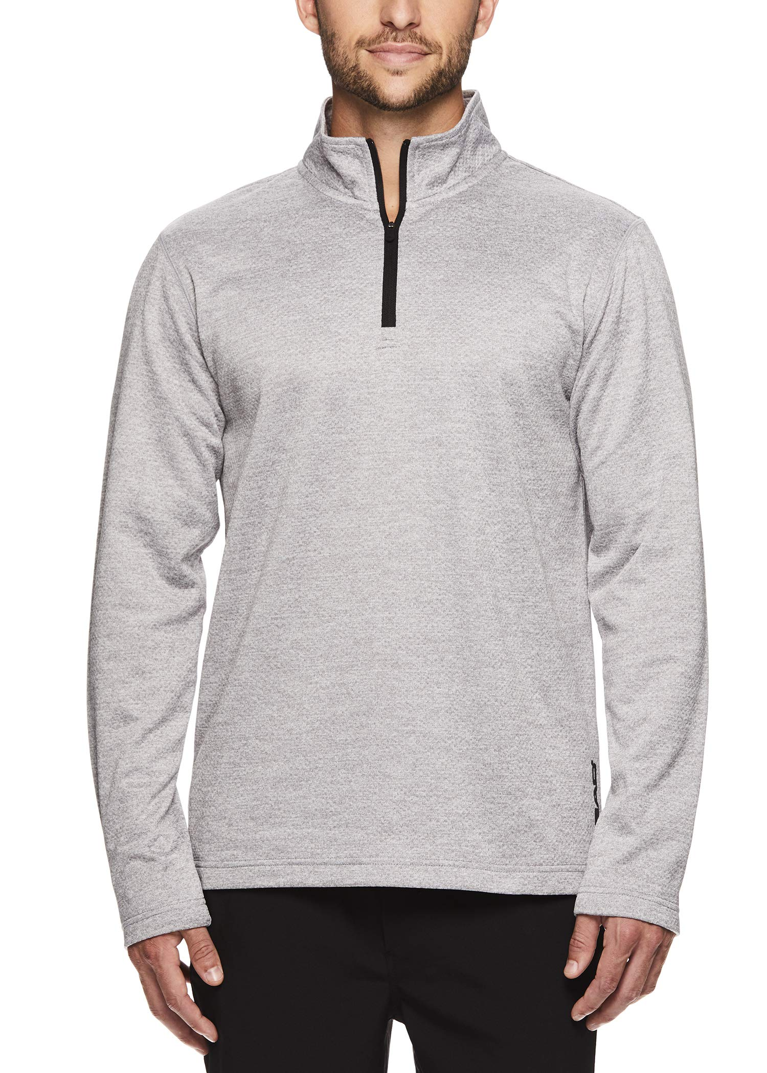 HEAD Men's 1/4 Zip Up Activewear Pullover Jacket - Long Sleeve Running & Workout Sweater - Showtime Sleet Heather, Small