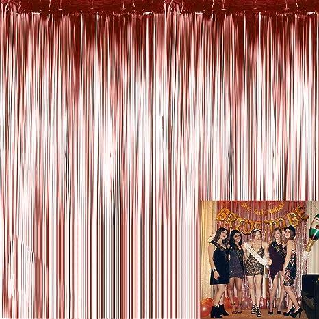 Labota 4 Stück Folie Vorhänge Metallic Fringe Vorhänge Schimmer Vorhang Für Foto Booth