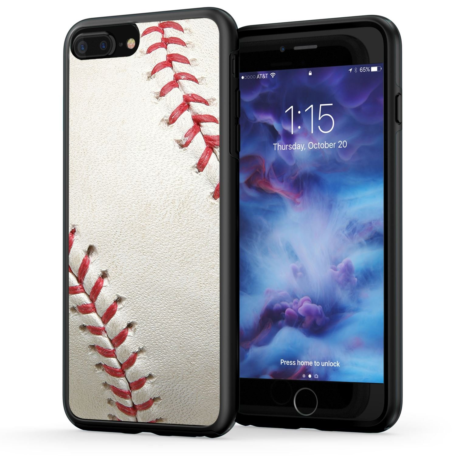 sports shoes b944c 9fd0e True Color Case Compatible with iPhone 7 Plus Case & iPhone 8 Plus Case,  Baseball Sports Collection Slim Hybrid Hard Back + Soft TPU Bumper  Protective ...