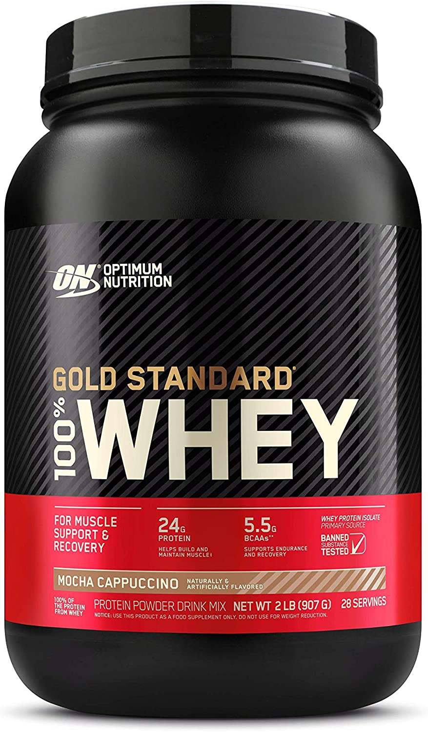 Optimum Nutrition Gold Standard 100% Whey Protein Powder, Mocha Cappuccino, 2 Pound (Packaging May Vary): Health & Personal Care