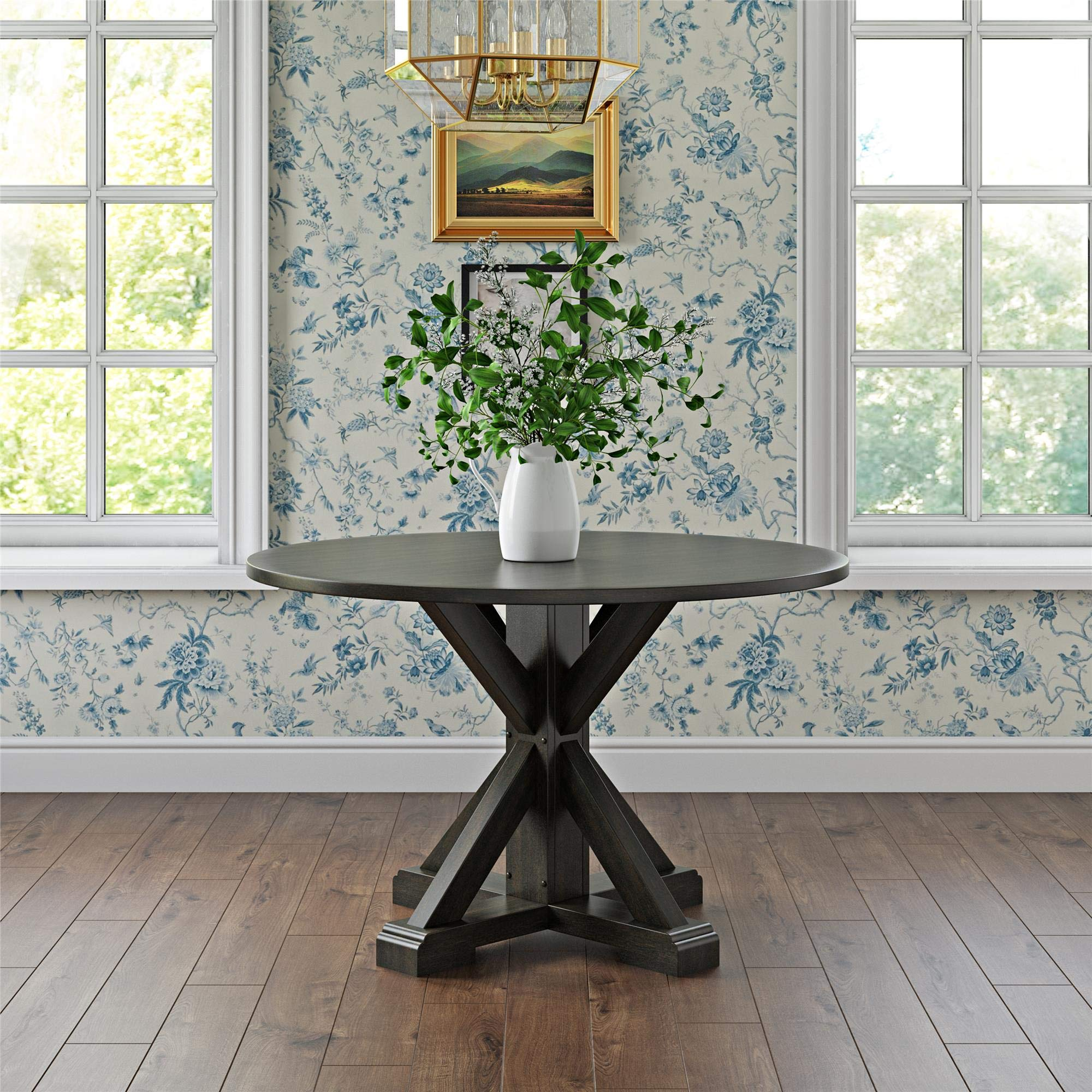 Dorel Living DA8135T Lanley Round, Rustic Brown Dining Table, by Dorel Living (Image #6)