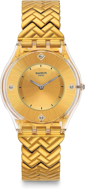 Swatch Women's Golden Street SFE106G Gold Stainless-Steel Quartz Fashion Watch