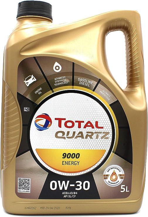 Total Quartz Energy 9000 0w 30 Motor Oil 5l Bottle Auto