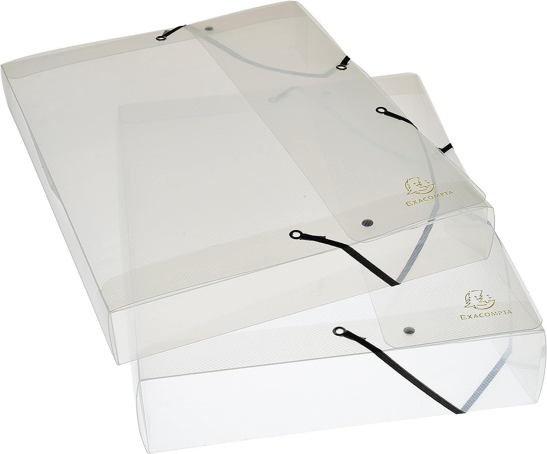 Exacompta 5962E - Carpeta de proyecto con goma, transparente