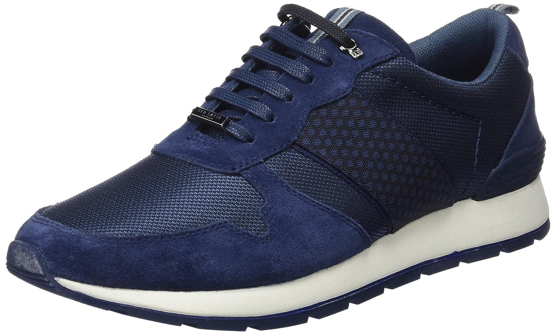Ted Baker Hebey, Zapatillas para Hombre 41 EU|Azul (Dk Blue 001)