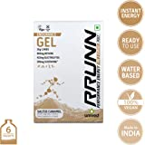 Unived Rrunn Endurance Energy Vegan Sports Gel - 39 g (Pack of 6, Salted Caramel)