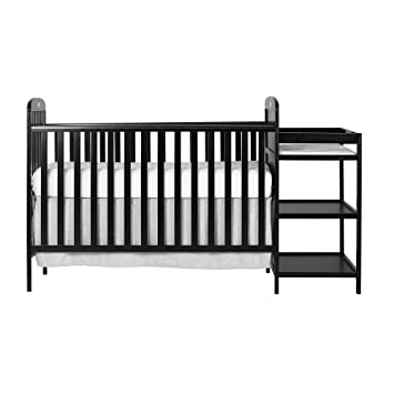 Wonderful Dream On Me, 4 In 1 Full Size Crib And Changing Table Combo, Black