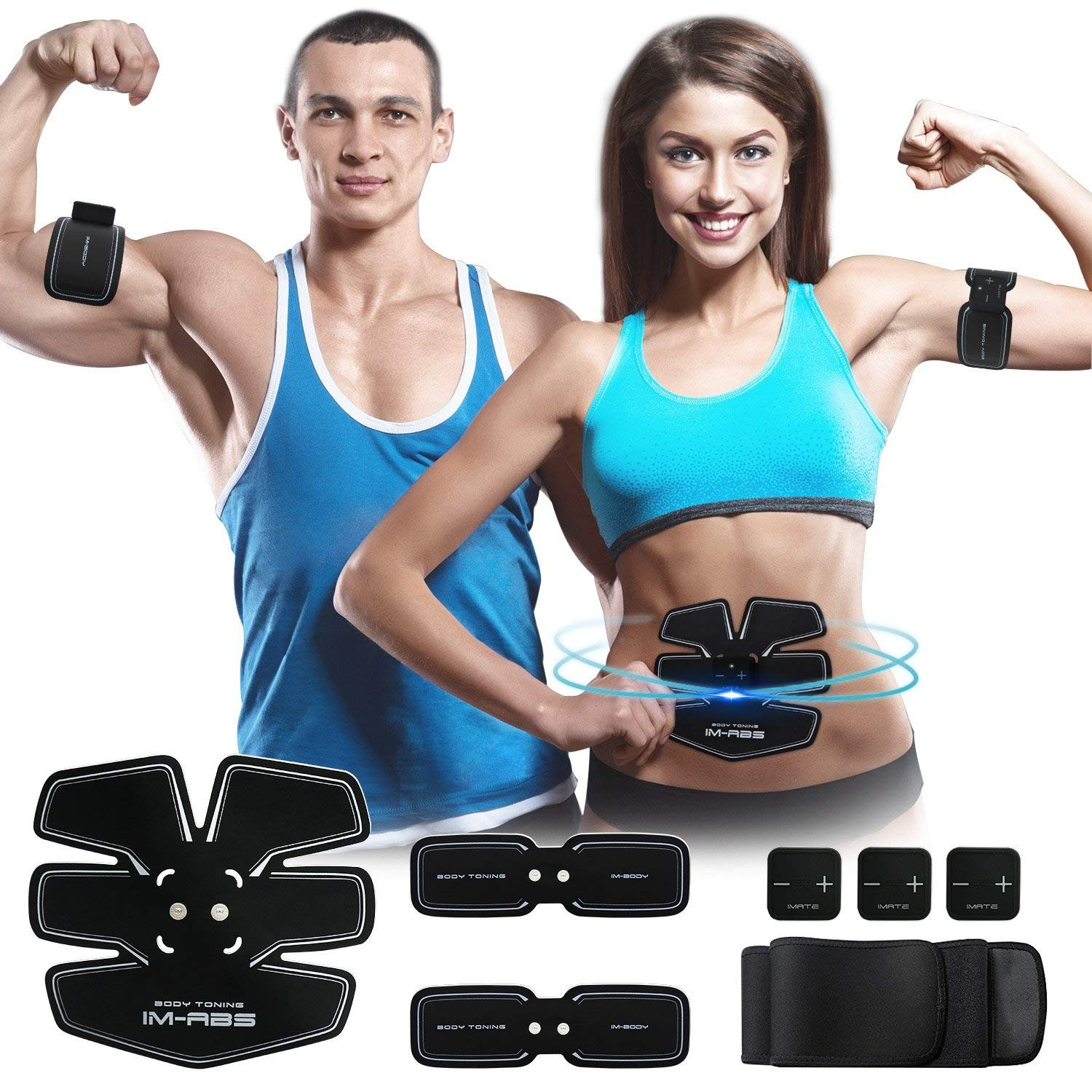 Ab Rollers Capable Abdominal Training Pad Abdomen Muscle Toner Waist Arm Leg Muscle Toning Fitness Muscle Stimulator Workout Equipment Host