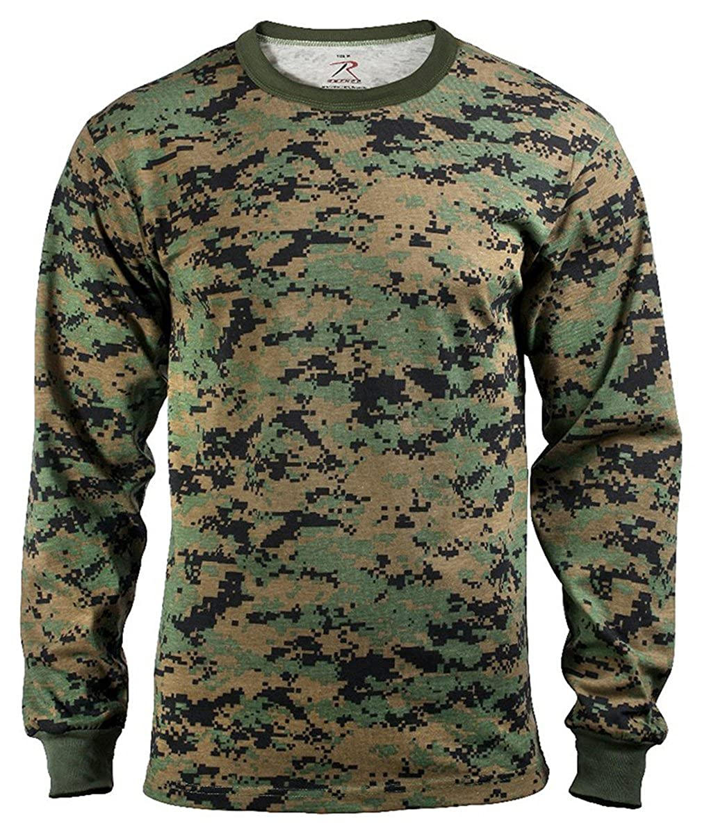 Rothco Long Sleeve T-Shirt, Woodland Digital, 2X 5495