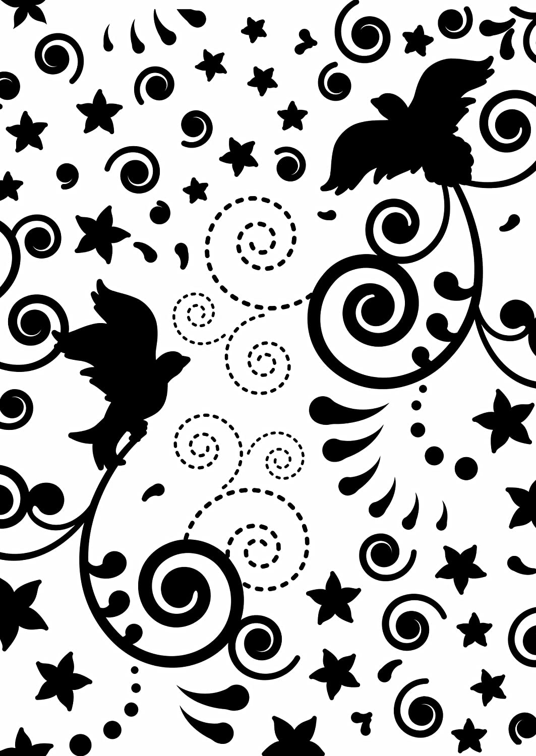 Couture Creations Embossing Folder New Year Dove Ho Ho Ho Collection, Transparent EFC0723263