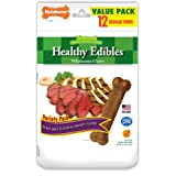 Nylabone Healthy Edibles Dog Chew Treat Bones for Small Dogs up to 25 Pounds