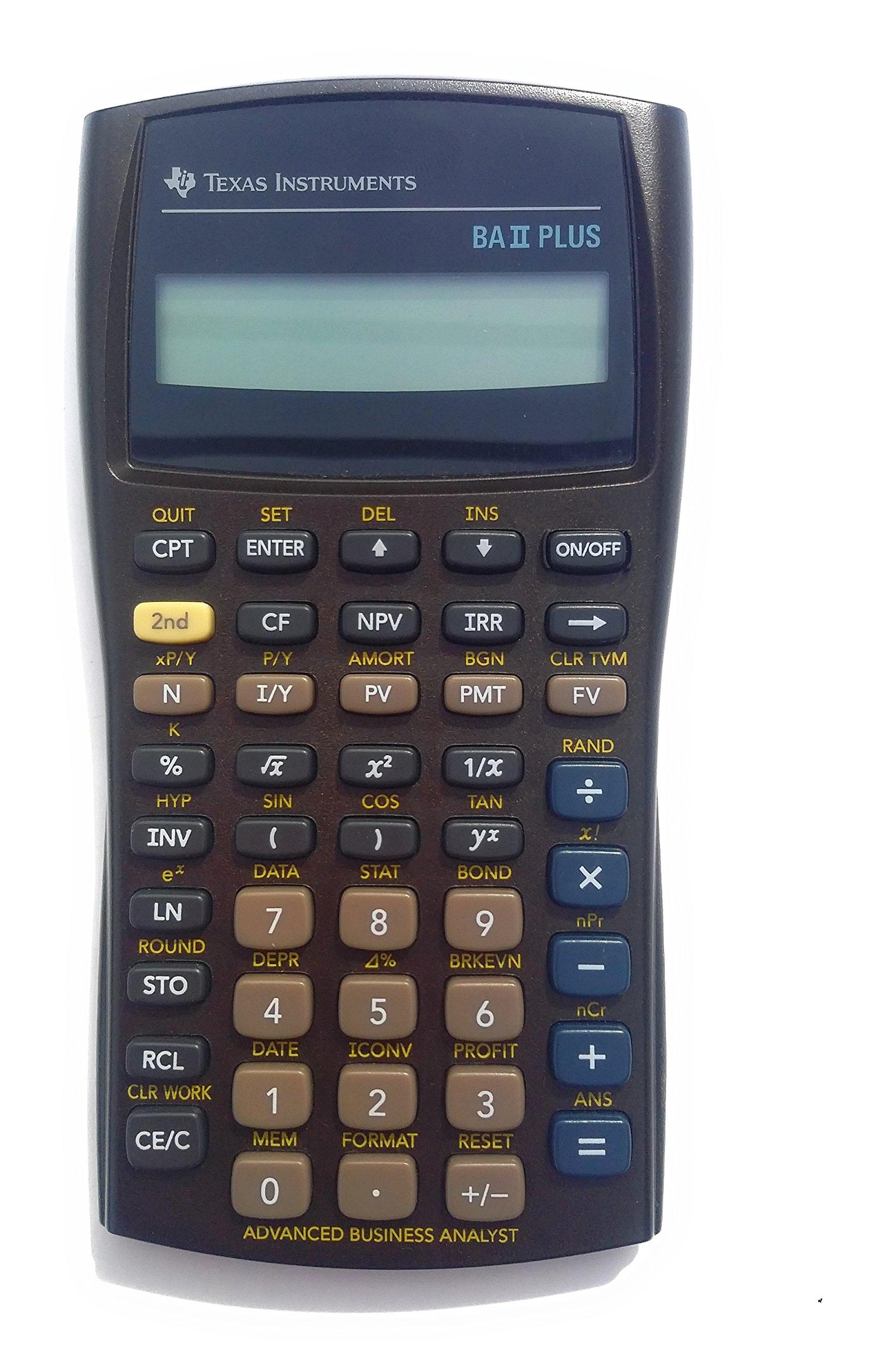 TEXBAIIPLUS - Texas Instruments BA-II Plus Adv. Financial Calculator