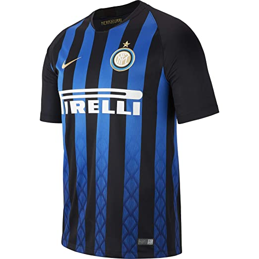 b6034e786 Amazon.com: NIKE 2018-2019 Inter Milan Home Football Shirt: Sports &  Outdoors