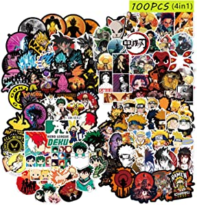 Fighting Anime Stickers [100PCS]. Random Anime Sticker Pack Gifts for Laptop Water Bottle Skateboard Graffiti Stickers, Cool Animals Monsters Decals, Best Gift for Kids Children