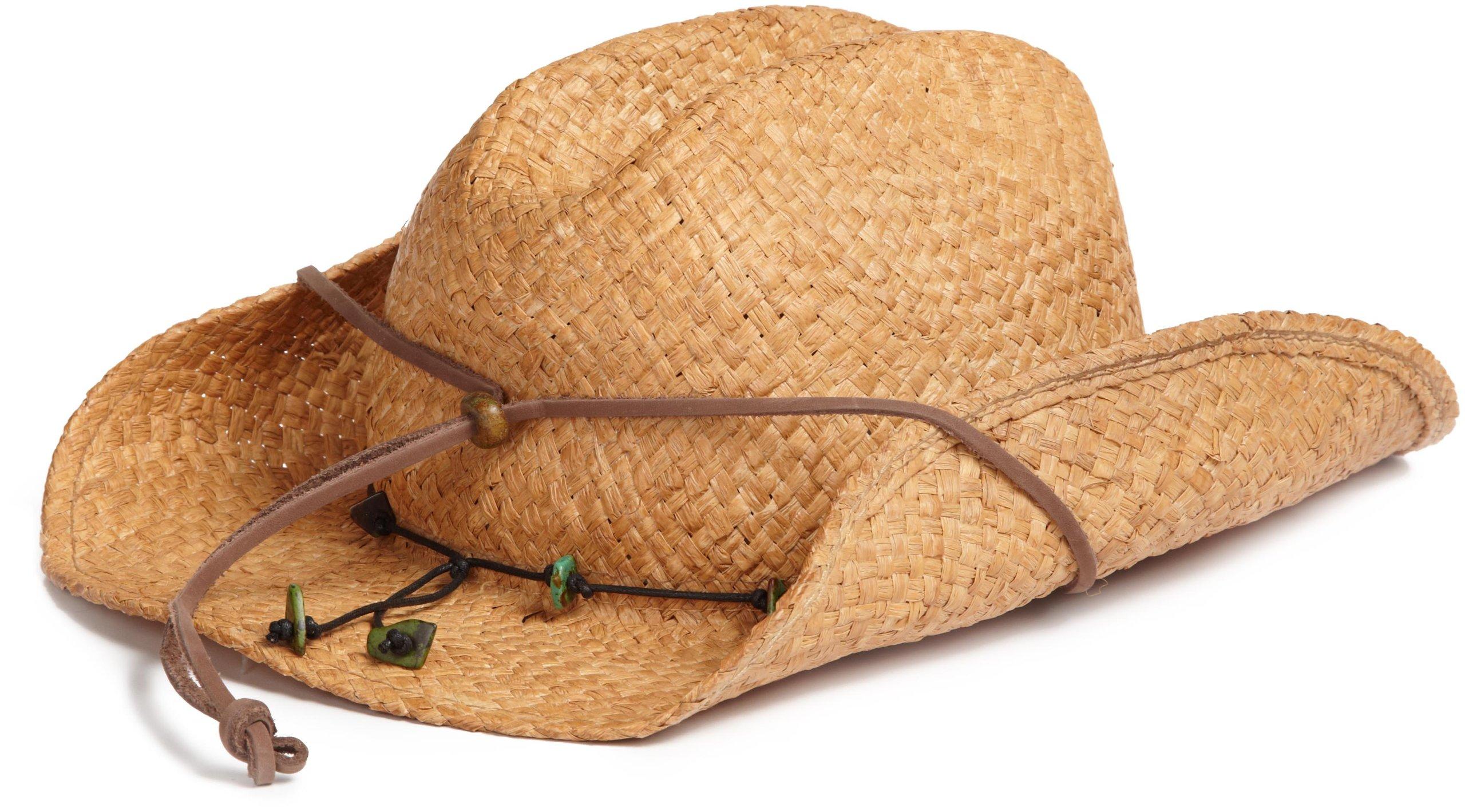 Scala Women's Straw Cowboy Hat, Tea, One Size by SCALA (Image #3)