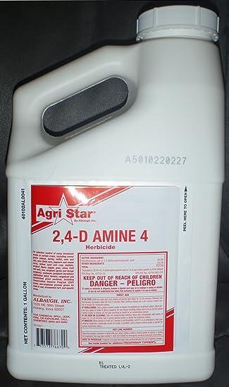 Amazon.com : Agri Star 2, 4-D Amine 4 Herbicide 128oz Gallon ...