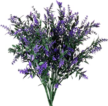 Jwctech 4-Piece Artificial Lavender Bouquet Filler