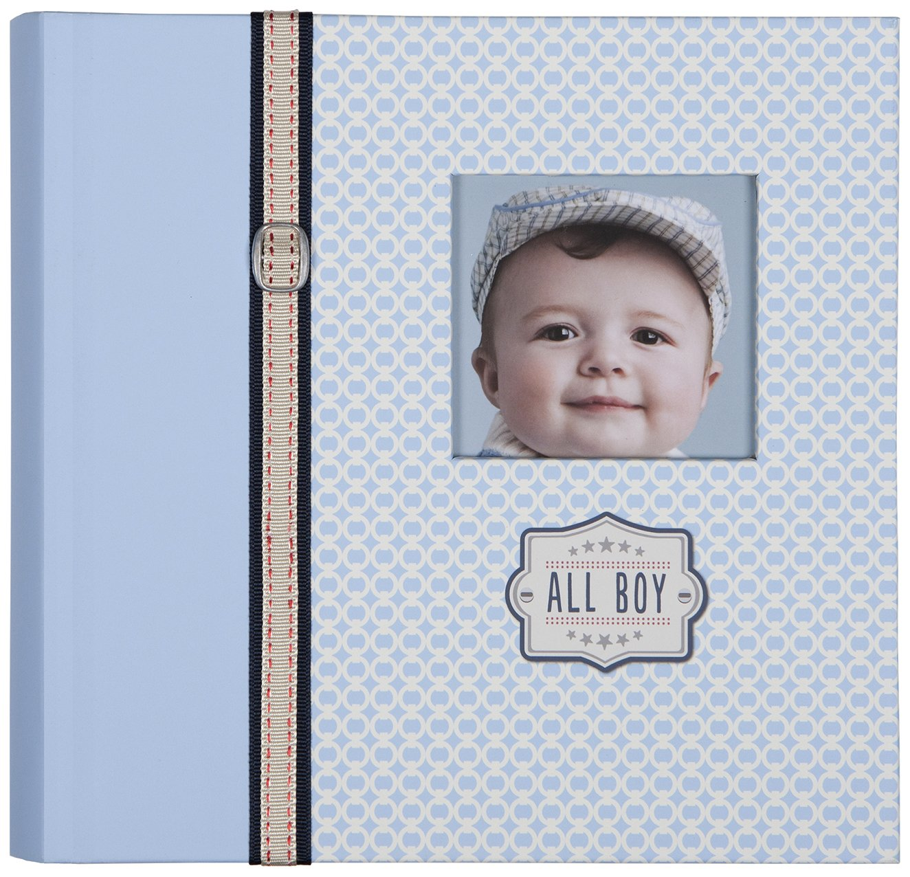 C.R. Gibson Slim Bound Photo Journal Album, Designer Pages, Space For Journaling, Holds 160 Photos, 80 Acid Free PVC Free Photo Safe Pages -All Boy BP1-14076