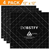 "3D Printing Build Surface, 3D Printer Heat Bed Platform Sticker Sheet, 12""x12"" Square (PACK of 4)"