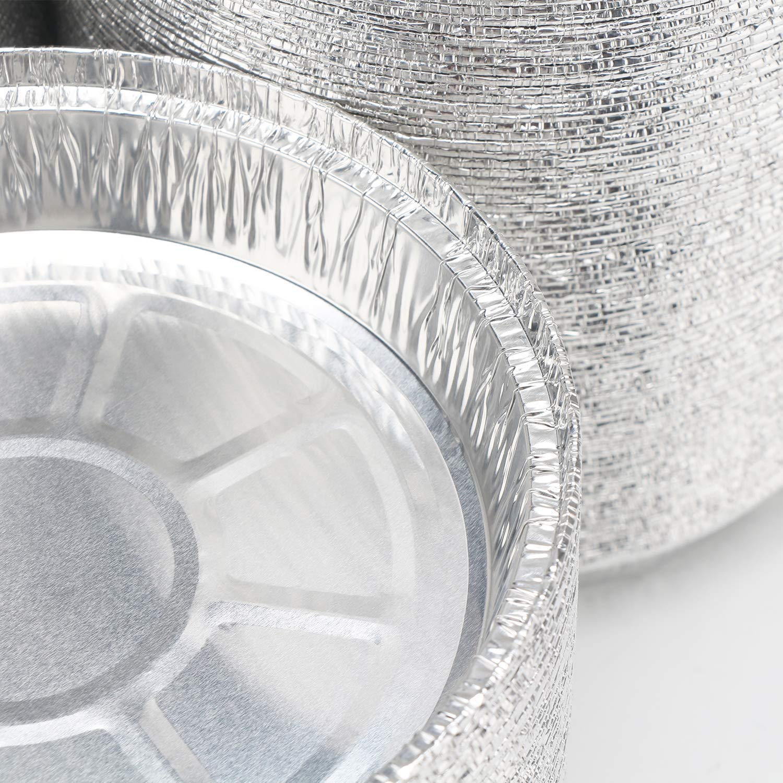 Pack of 50 Disposable Aluminum Foil Pie Pans Tart Pan Tins Plates Baking Foil Pans for Pies Tart Quiche Broiling Cooking,7.5 x 1.5 Inches Pie Pans