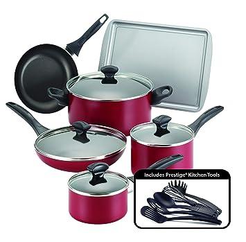 Amazon.com: Farberware - Set de cocina antiadherente apto ...