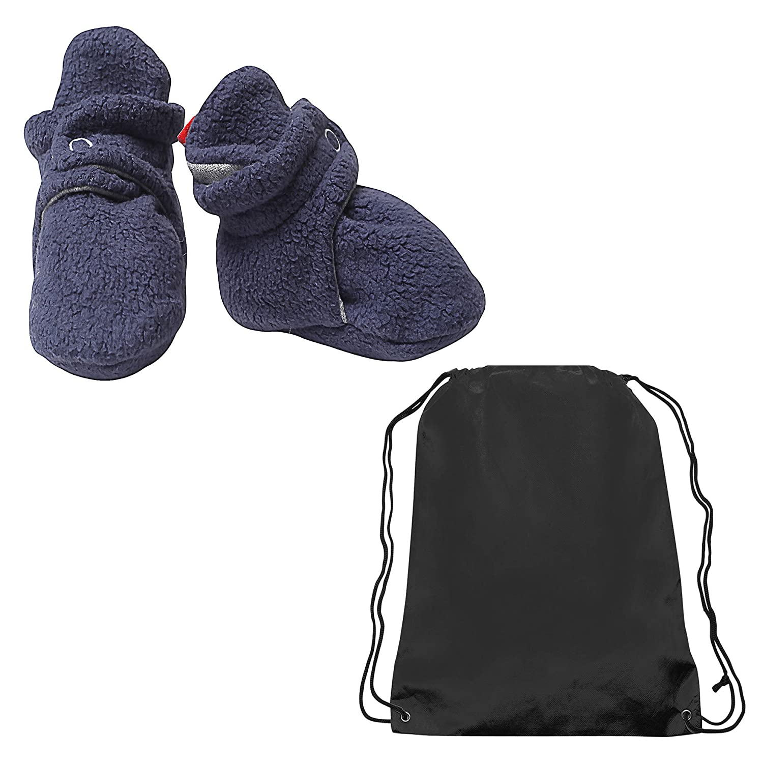 Zutano Unisex-Baby Newborn Cozie Fleece Bootie and Drawstring Athletic Bag