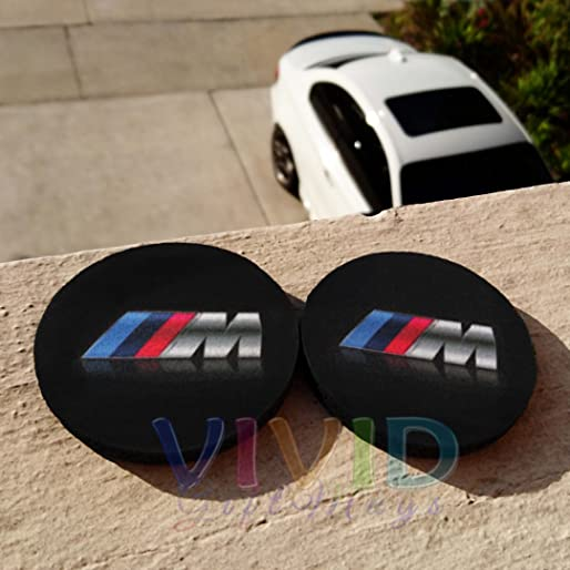 Pair of Car Coasters for BMW ///M! Highly Absorbent for any BMW cup holders! (2pcs)