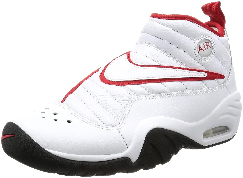 Nike Air Shake Ndestrukt Mens Hi Top Basketball Trainers 880869 Tenis Shoes (UK 9 US 10 EU 44, White White White 101)