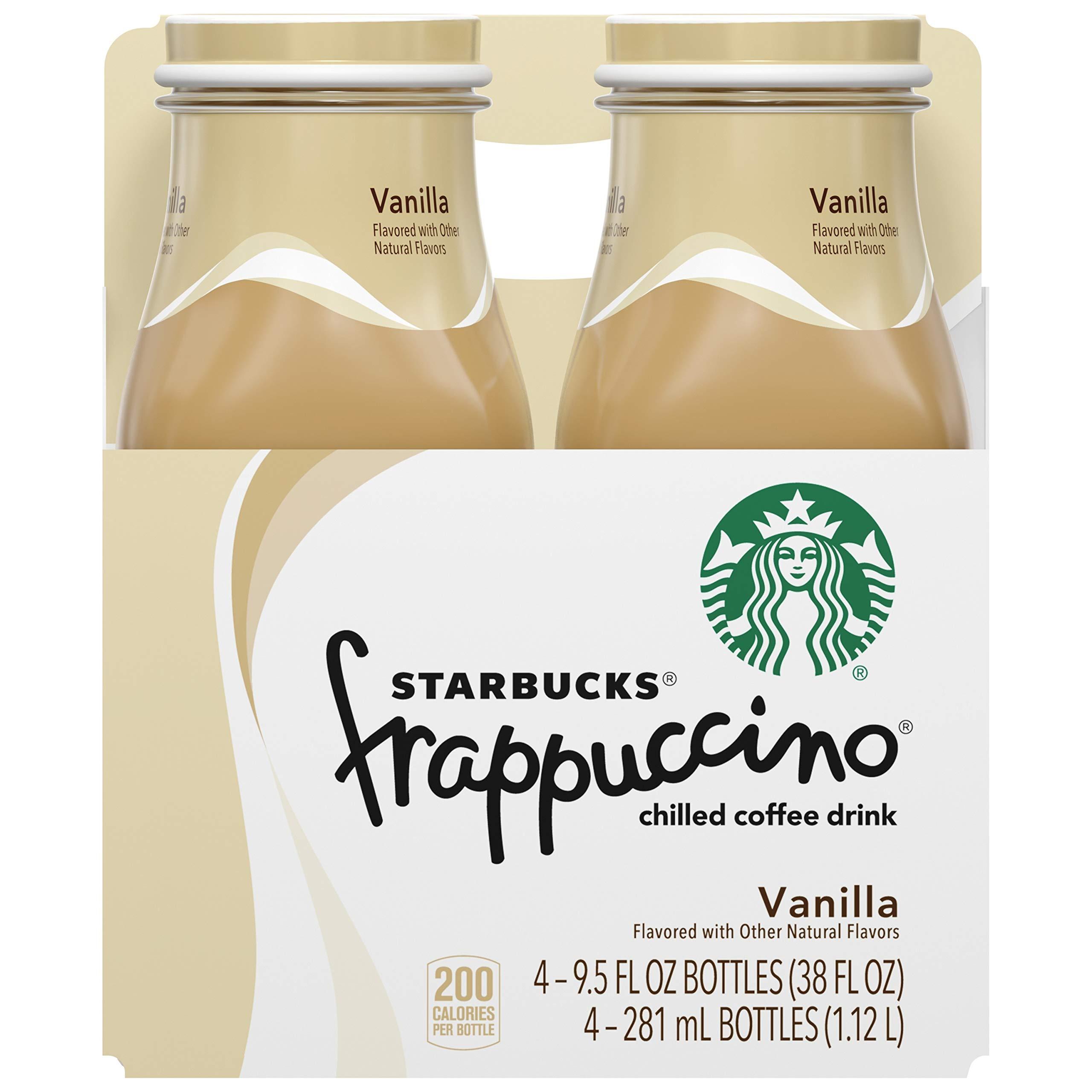 Starbucks Frappuccino Vanilla Coffee Beverage, 9.5 oz glass bottles (4 Pack)