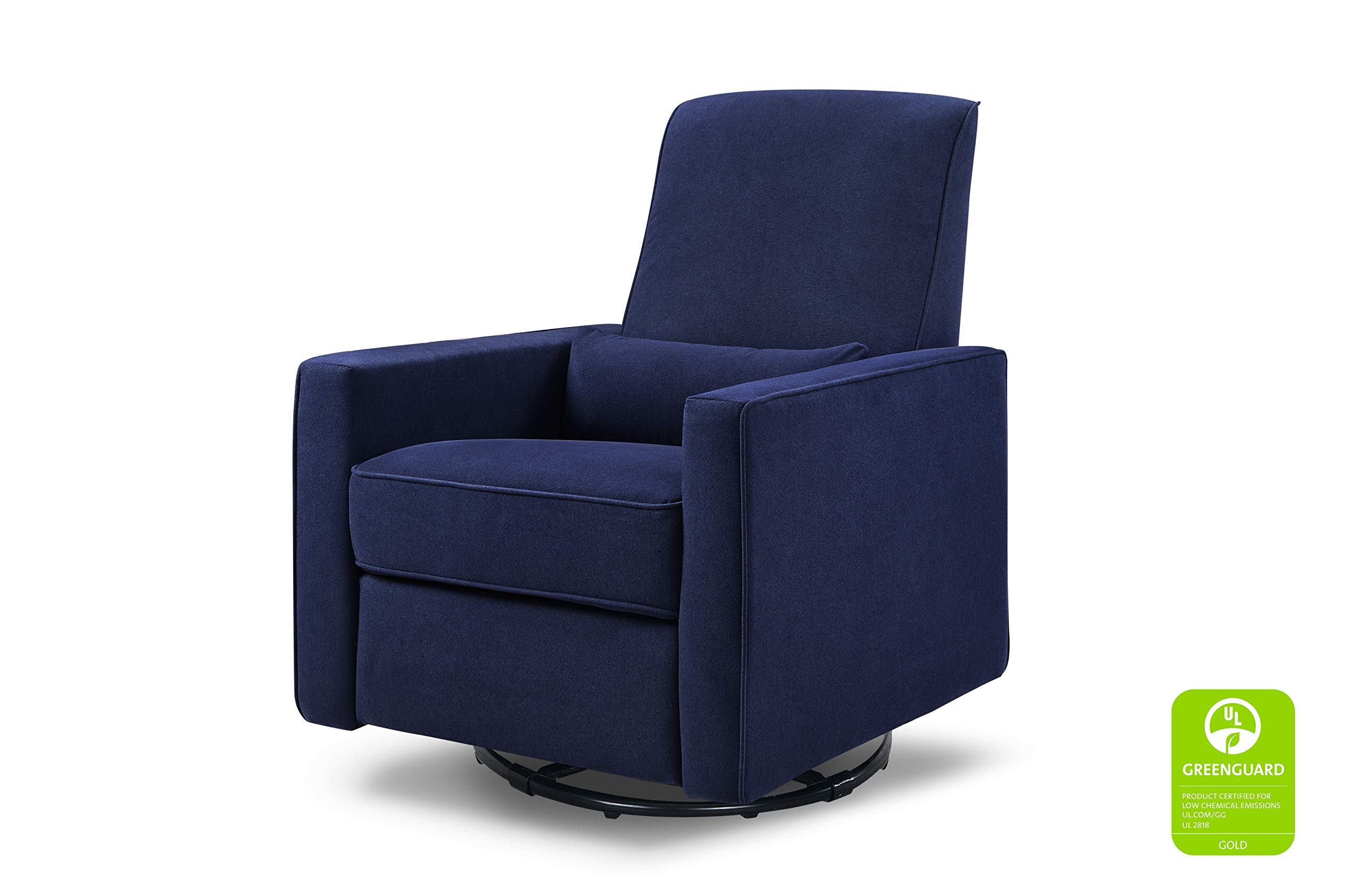 DaVinci Piper Upholstered Recliner and Swivel Glider, Navy by DaVinci