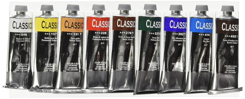 Maimeri 0398085 - Set Tubi Olio Classico da 60 ml , 9 Colori Assortiti Industria Maimeri