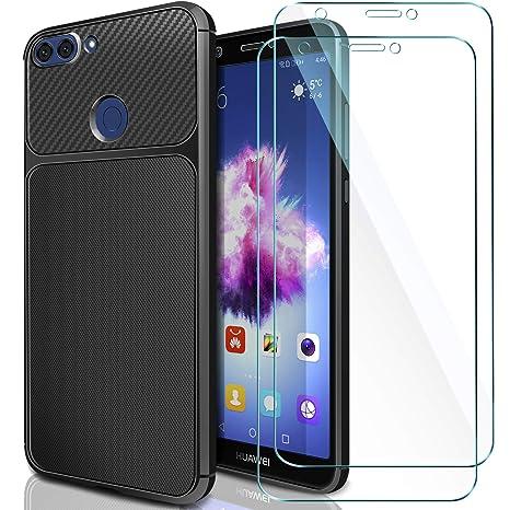 ivencase Cover Huawei P Smart + [2 Pack] Vetro Temperato Huawei P ...