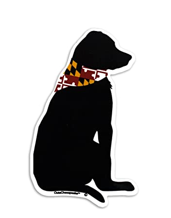 Maryland flag labrador dog sticker