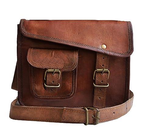 c12ed9885d Jaald- Stylish Men s Genuine distressed Leather Brown Shoulder Messenger  Passport Bag Murse Sling Bag Leather