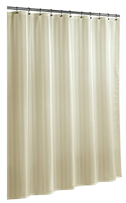 Ex Cell Home Fashions By Appointment Woven Stripe Damask Fabric Shower Curtain Liner Champagne
