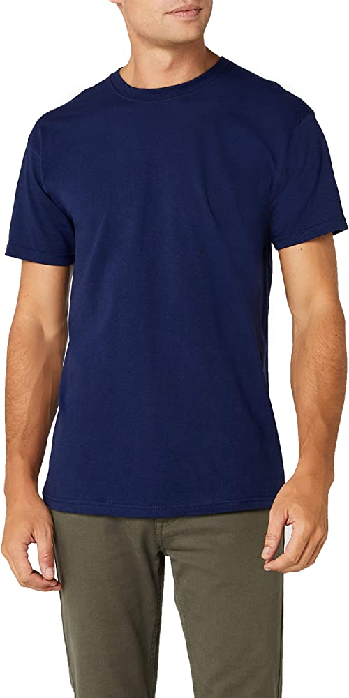 Fruit of the Loom Premium Tee Single, Camiseta manga corta para Hombre, Azul (Navy), Small: Amazon.es: Ropa y accesorios