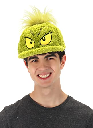 91b91fc75bfdf Amazon.com  elope Dr. Seuss The Grinch Costume Fuzzy Cap  Clothing
