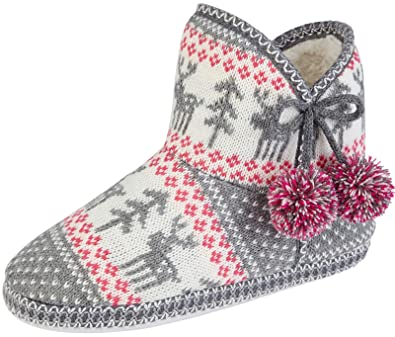 top-rated real get new new items Lora Dora Womens Slipper Booties Warm Lined Slipper Boots