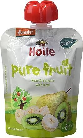 Holle Smoothie Pera, Plátano con Kiwi (+8 meses) - Paquete de 12 x ...