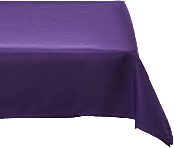 Awesome LinenTablecloth 60 X 102 Inch Rectangular Polyester Tablecloth Purple